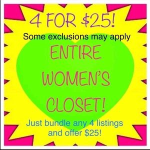 TODAY ENTIRE WOMENS CLOSET 4 FOR $25